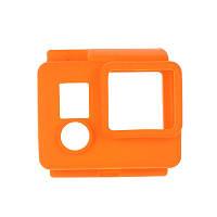 Силиконовый чехол для GoPro Hero 3 / 3+ / 4 (оранжевый)