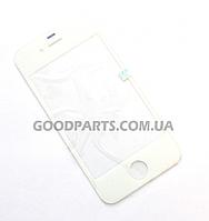 Стекло для iPhone 4 белый (Оригинал)