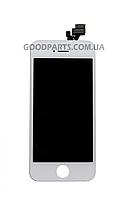 Дисплей с тачскрином для iPhone 5 белый (Оригинал)