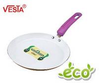 Алюминиевая сковорода блинная с керамическим покрытием  BG-5523c lilac   23см.  Производитель Vesta.