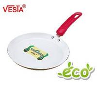 Алюминиевая сковорода блинная с керамическим покрытием  BG-5523c tomato   23см.  Производитель Vesta.