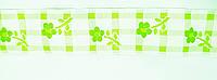 Тесьма клетка с  цветами  3,5см