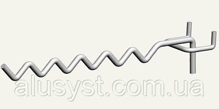 Крючки торговые. Крючок змейка с креплением на сетку, экономпанель, перфорацию и дсп, фото 1
