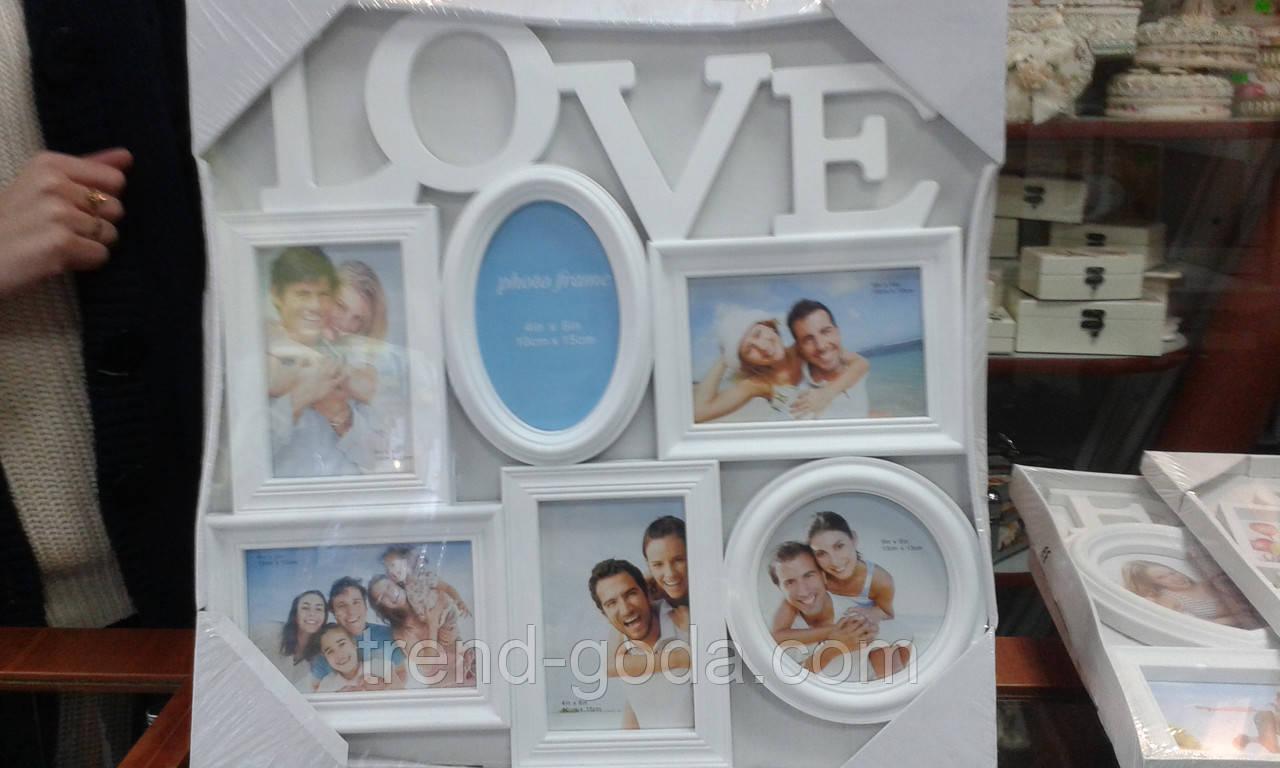 Рамка для фотографий Love