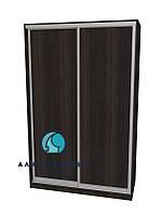 Алюминиевая система для сборки дверей шкафа купе. Ручка А119. Габариты 1400(Ш) х 2500(В) ДСП+ДСП, фото 1