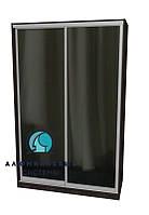 Алюминиевая система шкафа купе. Ручка А119. Габариты 1400(Ш) х 2500(В) Зеркало+Зеркало