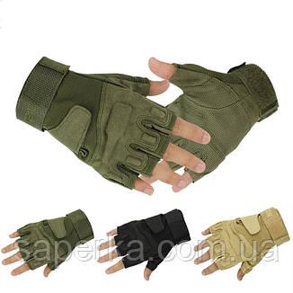 Перчатки тактические без пальцев BlackHawk Solag, фото 2