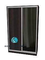 Алюминиевая система для сборки фасадов шкафов купе.  Ручка А119. Габариты 1400(Ш) х 2500(В) ДСП+Зеркало