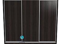 Алюминиевая система для самостоятельной сборки шкафа купе. Ручка А119. Габариты 3000(Ш) х 2500(В) 3 двери ДСП
