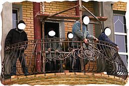 установка кованого ограждения на балкон