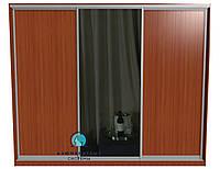 Система купе для самостоятельной сборки. Ручка АА114. Габариты 2100(Ш) х 2500(В) Двери 2 ДСП+Зеркало