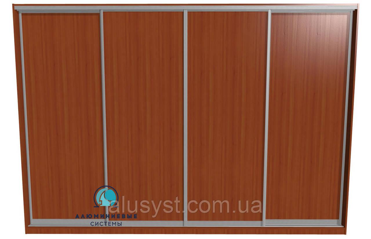 Раздвижная система для сборки шкафа купе на 4 двери. Ручка АА114. Габариты 3600(Ш) х 2500(В)