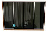 Конструктор из алюминиевых профилей для сборки шкафа купе на 4 двери. Ручка А107. Габариты 3600(Ш) х 2200(В), фото 1