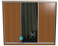Раздвижная система для сборки шкафа купе. Ручка А107. Габариты 3000(Ш) х 2200(В) Двери 2 ДСП+Зеркало, фото 1