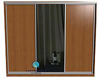 Раздвижная система для сборки шкафа купе. Ручка А107. Габариты 2100(Ш) х 2500(В) Двери 2 ДСП+Зеркало