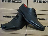 Туфли  кожание  мужские на шнурках PRIME