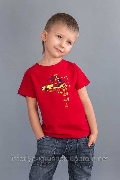 Футболка на мальчика красная Sport