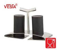 Набор для соли и перца с подставкой.Цвет BLACK.  BG-52   black. Производитель Vesta.
