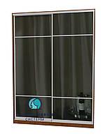 Раздвижная система шкафа купе с комбинированными фасадами. Ручка А119. Габариты 1800(Ш) х 2800(В) 2дв. зеркало, фото 1
