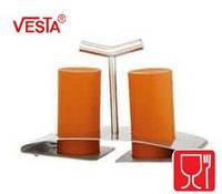 Набор для соли и перца с подставкой.Цвет ORANGE.  BG-52   orange. Производитель Vesta.