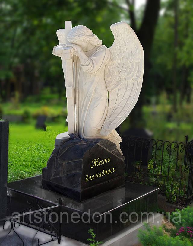 Памятники на могилу с ангелами фото и цены Эконом памятник Пламя Злынка