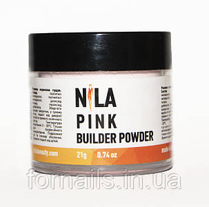 Nila Пудра акриловая розовая Pink Builder,21 гр
