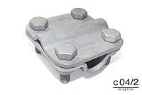 Зажим QUADRO D16 (2 пластины), оцинкованная сталь