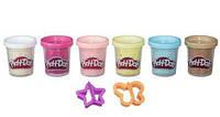 Плей-Дох Набор из 6 баночек с конфетти Play-Doh B3423