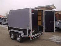 Фургон 3,1м х 1,6м х 0,45м (борт). Тормоз наката Knott 2т! , фото 1