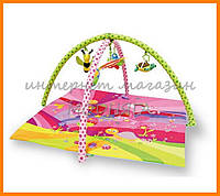 Детский  игровой коврик Сказка розовый