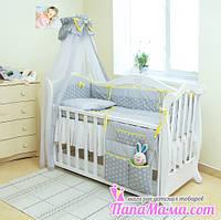 Постельный набор в детскую кроватку Twins Premium Glamur