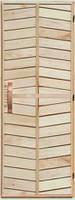 """Деревянная дверь для бани """"Ромб"""" 70х200 высший сорт"""