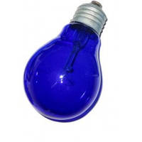 Лампа накаливания вольфрамовая (синяя), А55 С 230-60 Е27 КАЛАШНИКОВО  для рефлектора Минина