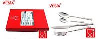 Столовый набор из 24-х столовых предметов.VS-5024S  Серебро.Производитель Vesta.