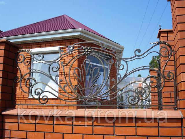 Забор кованый с орнаментом