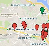 Карта торговых точек, в которых можно приобрести ореховые пасты Burunduk