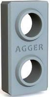 AGGER - LEGO кирпич облицовочный серый м75 (250х125х65)