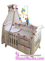 Постельный набор в детскую кроватку Twins Premium Zigzag, фото 1
