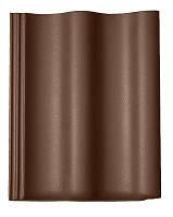 Цементно-песчаная черепица Braas / Браас Харцер / Harzer коричневый Люмино