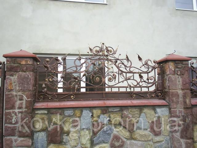 Кованое навершие на забор