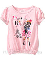 Детская футболка для девочки 12-18, 18-24 месяца