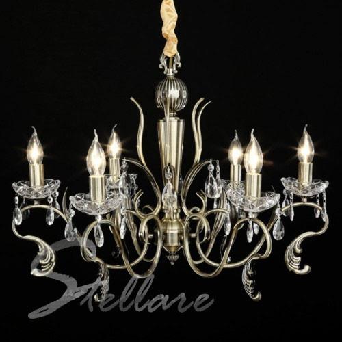 Люстра 6-ти ламповая, классическая, для зала  2181/6 бронза