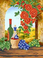 """Рисунок на ткани для вышивания бисером """"Вино из Тосканы"""""""