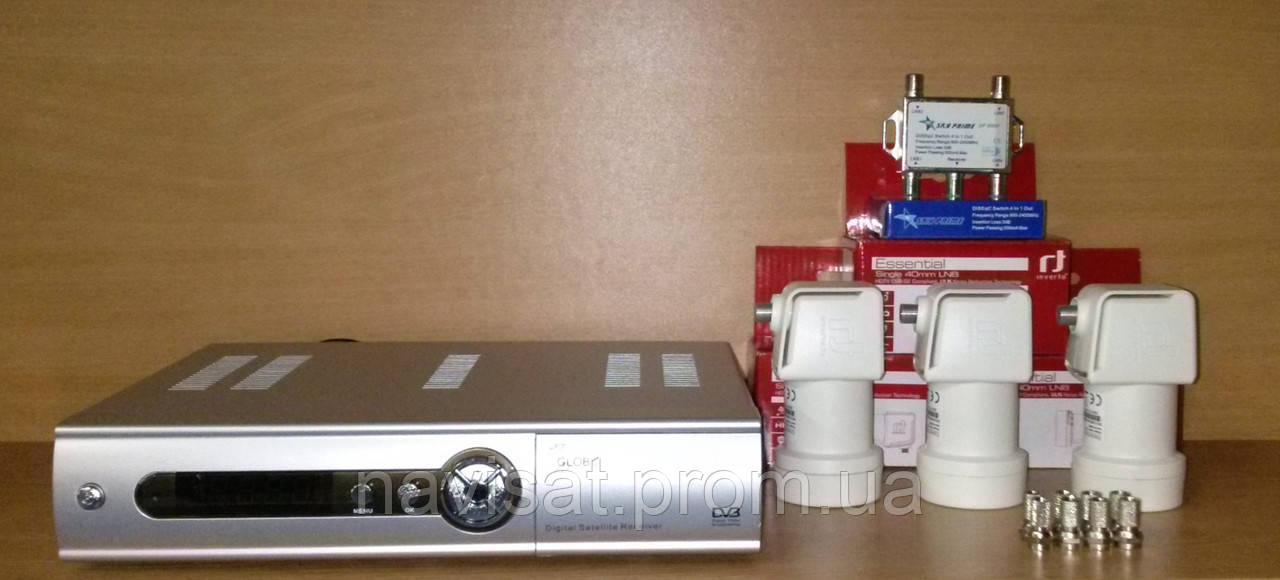 Комплект для самостоятельной установки «Базовый SD» (на 1 телевизор) - Интернет-магазин «NaviSat» Т2 тюнеры в Днепре, спутниковое ТВ в Днепре в Днепре