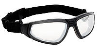 Очки защитные прозрачные со съёмными дужками и резинкой FLYLUX  Anti-fog