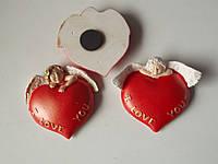 Керамические магнитики сердечка до дня Влюбленных