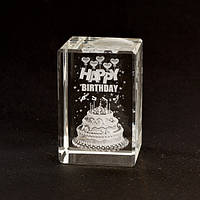 Лазерная голограмма Happy Birthday