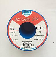 Припой в проволоке 0,5мм с флюсом ПОС61 (Sn60Pb40) Felder