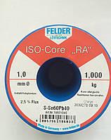 Припой в проволоке 1мм с флюсом ПОС61 (Sn60Pb40) Felder