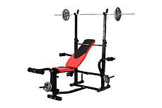 Штанга 50 кг со скамейкой HS-1060 с партой и тягой, фото 2